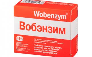 Вобэнзим: состав, аналоги, побочные действия, отзывы