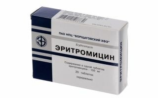 Эритромицин: формы выпуска, действие, аналоги