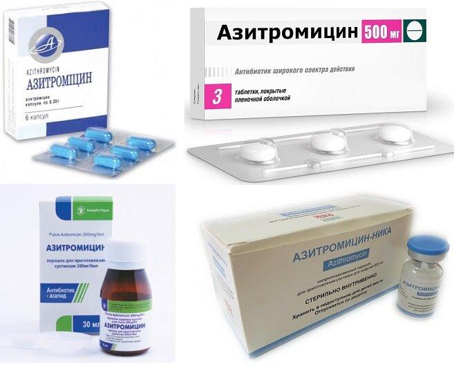 Формы выпуска Азитромицин